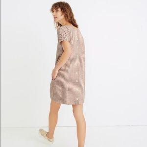 Madewell | Stripe-Play Button-Back Tee Dress